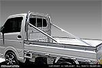 軽トラック用60Φ極太ステンレスロールバー【サイドバー ストレートタイプ】